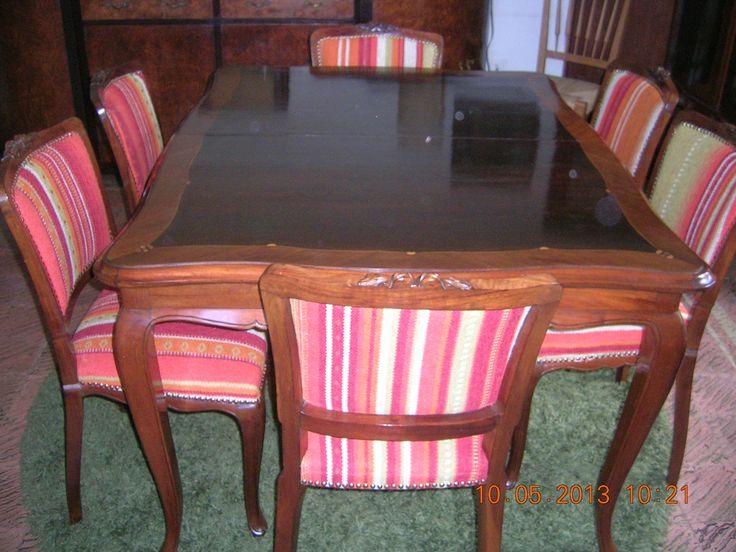 Juego de comedor luis xv muebles vintage uruguay pinterest for Muebles rusticos uruguay