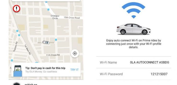 Ola announces free in-cab 'Auto-Connect Wi-Fi' for all cabs and autorickshaws