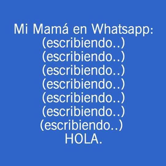 Mi madre por WhatsApp