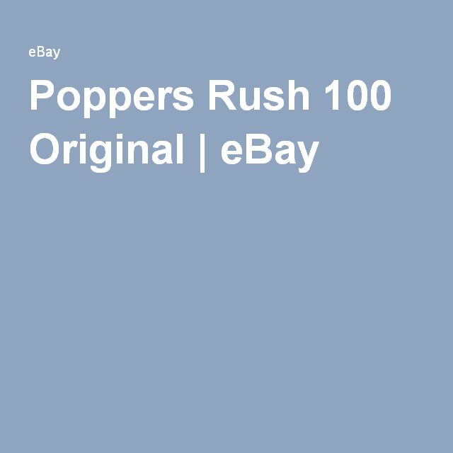 Poppers Rush 100 Original | eBay