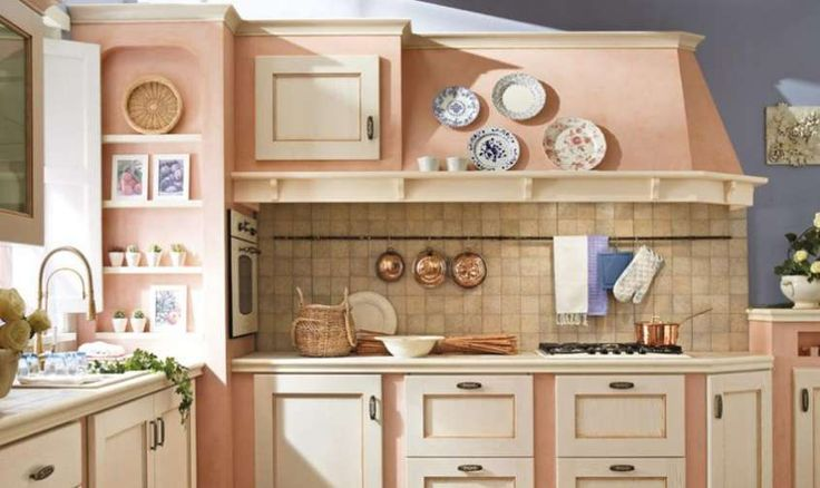 Idee colore pareti cucina - Cucina romantica