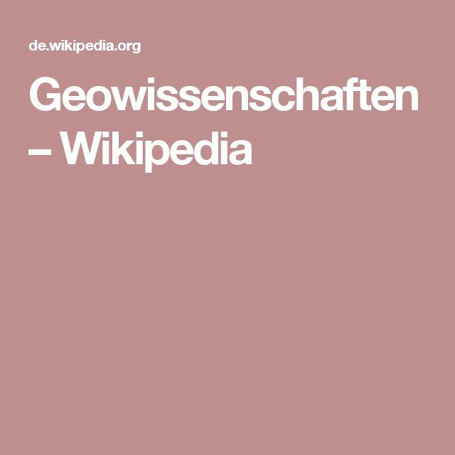 Geowissenschaften – Wikipedia