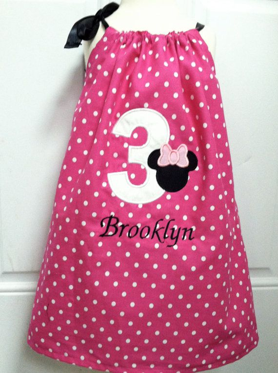 Minnie mouse birthday pillowcase dress by designsbyttct on etsy 24