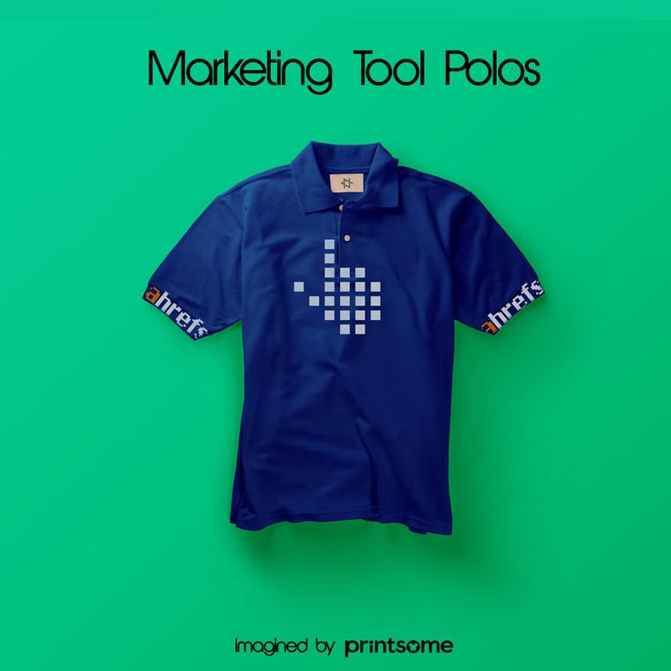 We believe that promotional t-shirts can be really cool. That's why we've designed awesome personalised polo shirts for the most famous marketing tools! #Ahrefs #onlinetools #polodesign #tshirt