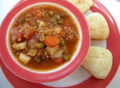 LOVE SOUTHERN PLATE! Ground Beef Stew....I have made this with stew meat also. Very good!! Love that it can be made in the crockpot. In fact made it Sunday.