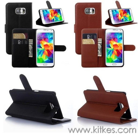 Wallet Stand Leather Case Samsung Galaxy S6 - Rp 135.000 - kitkes.com