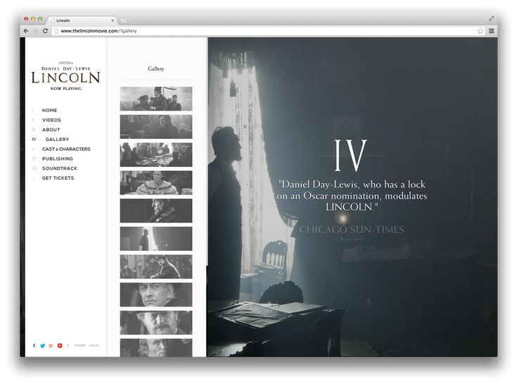 Web design inspiration: Lincoln