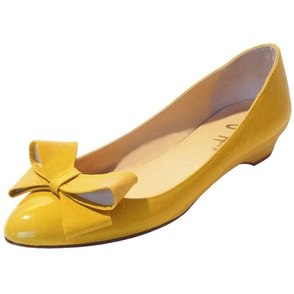 Butter Shoes Scoop in Yellow Patent ($275) ❤ liked on Polyvore