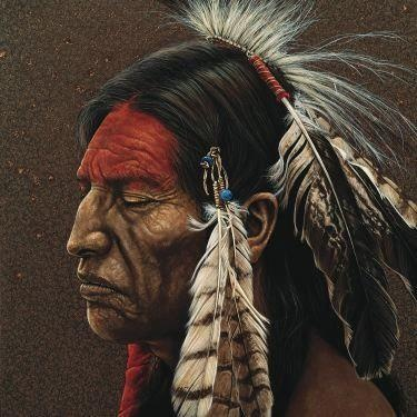 Deep in Thought - Native American Art