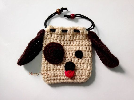 BA004 Crochet purse Handmade purse DIY purse FREE by HappyTrendy
