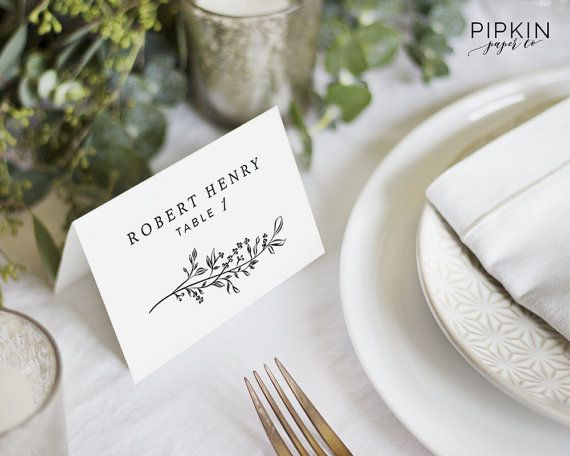 place cards printable wedding place cards template digital download for word fully customizable