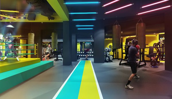 FITBOX l GYM on Behance #stayfitdfw gym interiors commercial gym studio fitness center