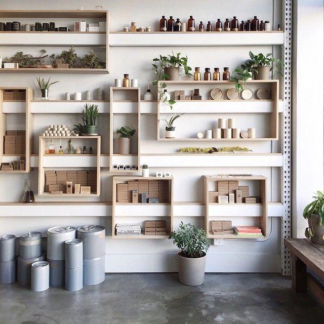 *beautiful simple store shelving in Portland by Eva Tsang