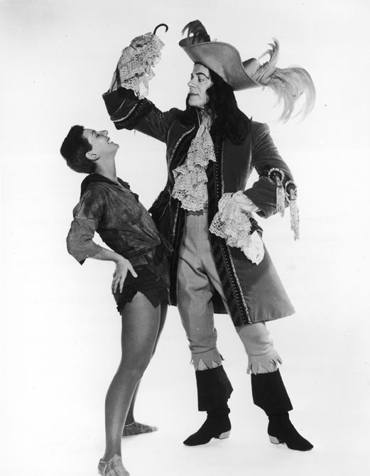 "Mary Martin and Cyril Ritchard in the Original Broadway Cast of ""Peter Pan"""