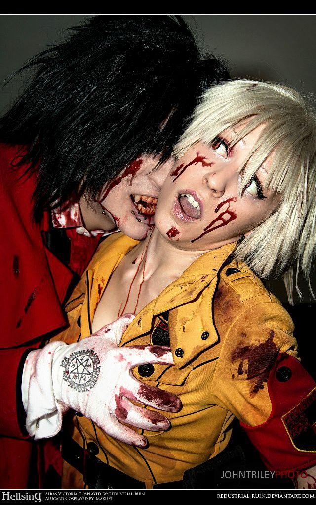Hellsing Cosplay: Alucard and Seras: Taste You by Redustrial-Ruin