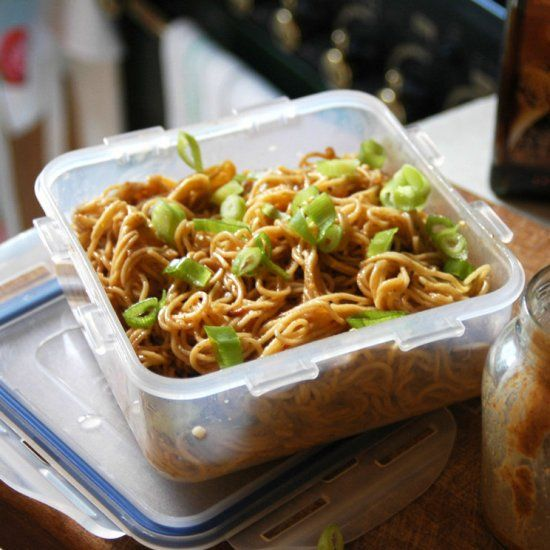 Nutty noodles ready in 10 minutes for a super-speedy lunch