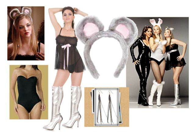 """""""Karen's Mouse Costume from """"Mean Girls"""""""" by bc80schick17 ❤ liked on Polyvore featuring movie style"""
