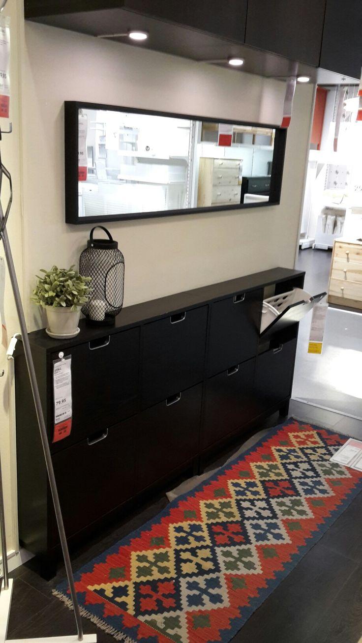 Ikea Faktum Lidingo Kitchen ~ Ikea, Ställ,Schuhschrank 4 Fächer, schwarzbraun, 96x17x90, CHF 79 95