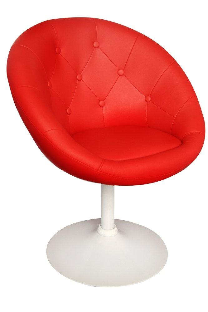 Fauteuil UB DESIGN Newport rouge et blanc