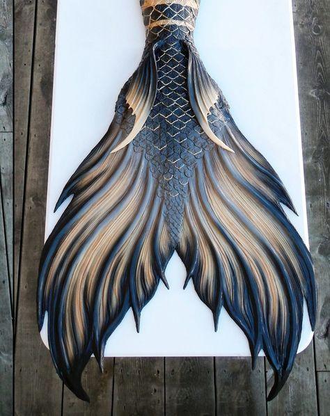 Finfolk Productions Silicone Mermaid Tail Black Gold Calypso | eBay