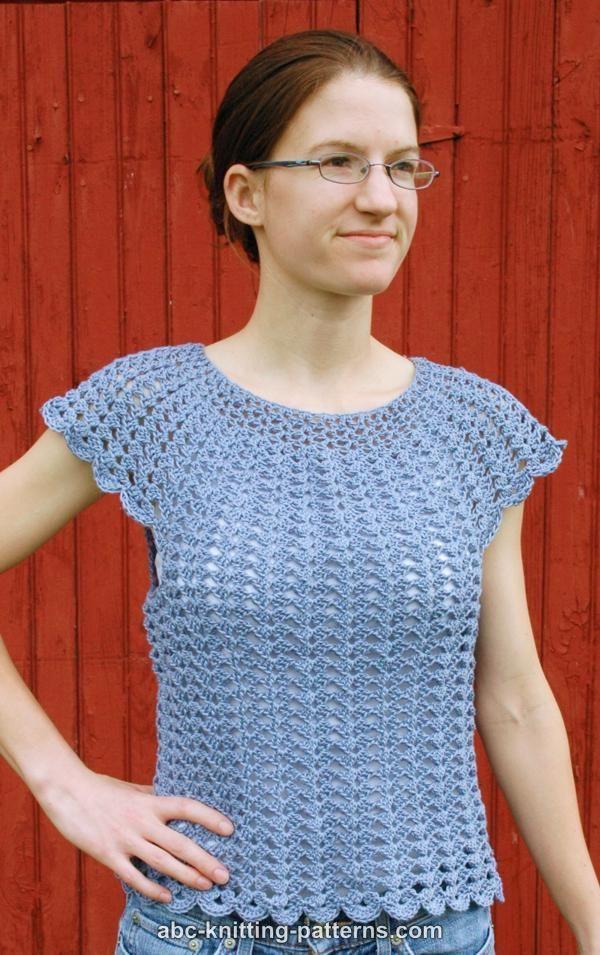 ABC Knitting Patterns - Scalloped Summer Top