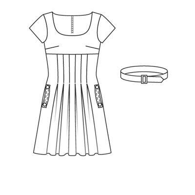 dress 105A (plate) - 10/2007 - Casual Ligne décontractée pour elle & lui burdamode.com
