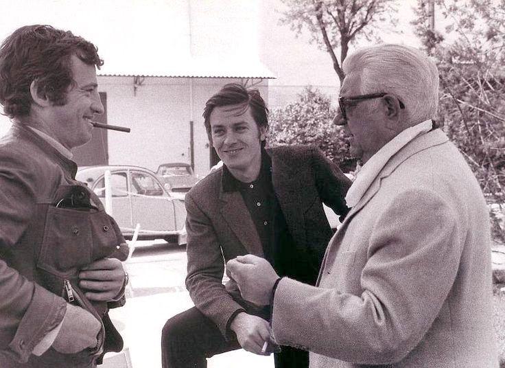 Jean-Paul Belmondo, alain delon et Jean Gabin ensemble