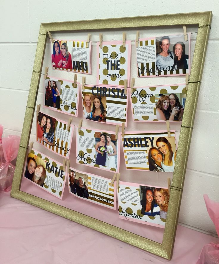Love how my Meet the Maids board turned out!