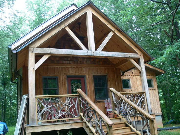 Small timber frame home cabin living pinterest for Small timber frame cottage