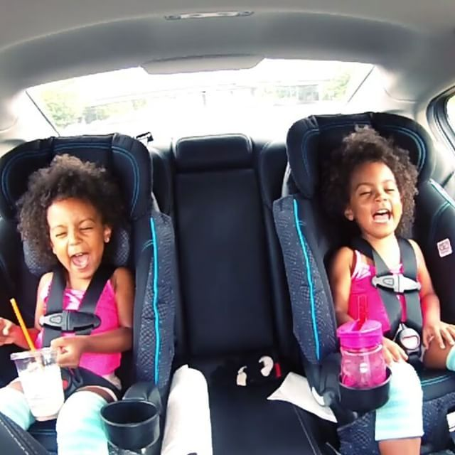 The girls play thumbs up, thumbs down and get really silly with dad @jkmcclure  The full video on youtube - subscribe!  #identicaltwins #twins #thumbsup #sisters #funnyface #biracialfamily #mixedrace #multiracial #perfectlyblended #interracial #mcclures #votd #familyvlog #carfunny #twindad #silly #curls #curly #afro #happyfamily #dadanddaughter #westorange #childmodel #bff