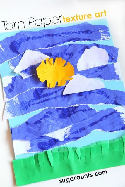 Create textured artwork using recycled art while working on fine motor skills, including intrinsic muscles strength and tripod grasp.