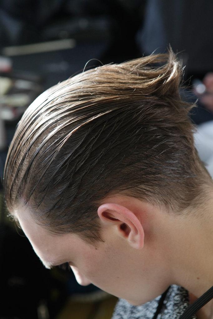Y-3 Fall 2013 hair