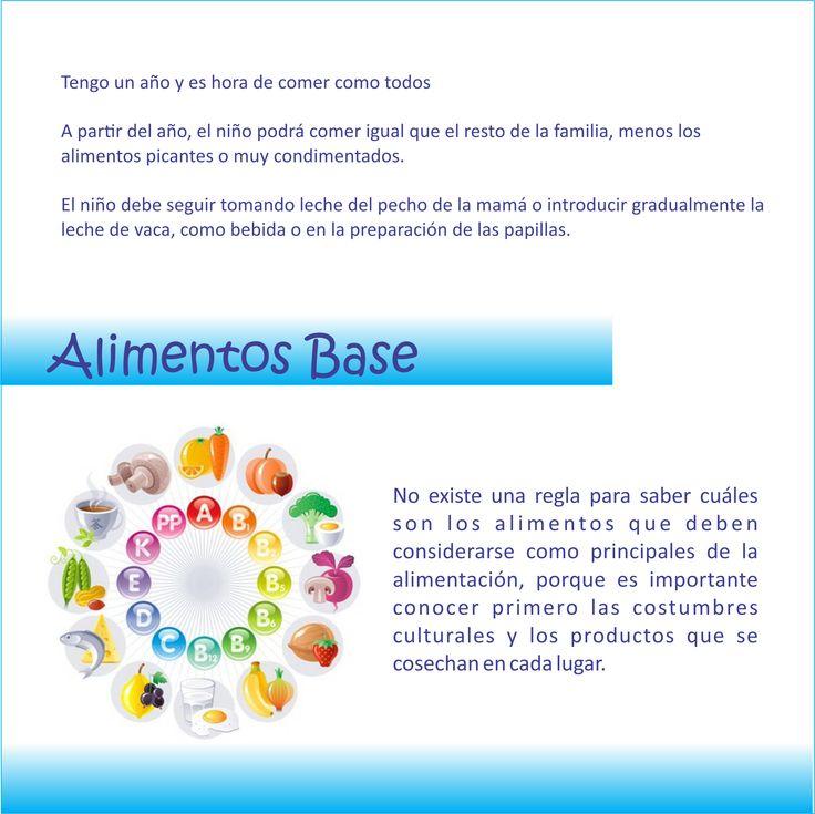 #Nutrición en los #niños . . . #Alimentos #Base