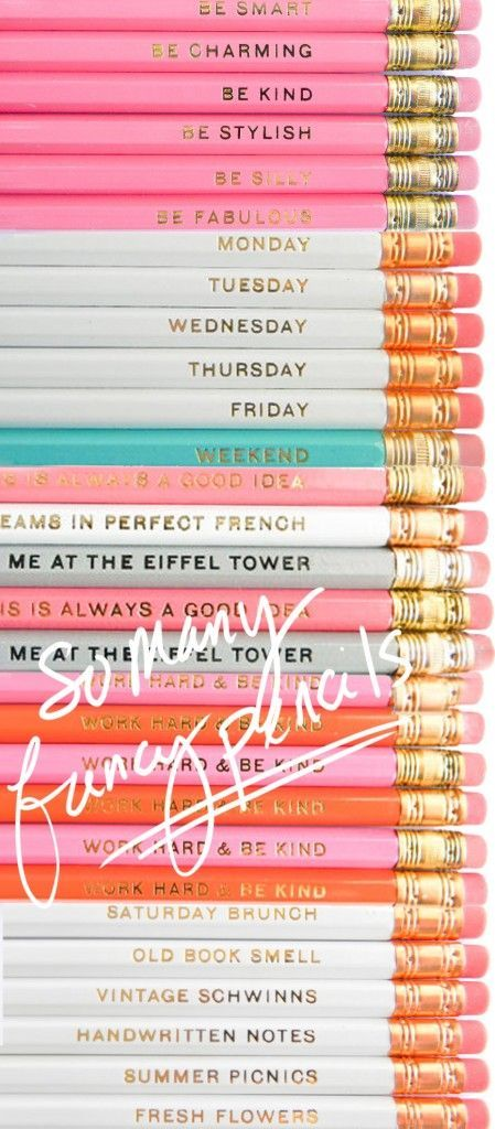 Fancy and pretty pencils via Ashley Brooke Designs. A cute collection of back to school supplies for girls.
