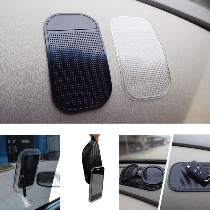 1 PC מחזיק רכב לוח המחוונים Sticky Pad סיליקה ג 'ל קסם נעוץ Pad מאט סליפ אנטי לרכב טלפון סלולרי אבזרים לרכב 2 צבע