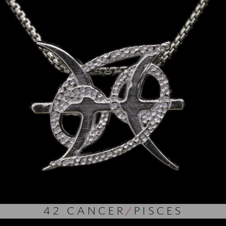 The Cancer/Pisces Unity Pendant is a beautiful and meaningful way to share and express the love between a Cancer and a Pisces. Unity Pendants are cast in Bronze with a thick Sterling Finish and come with a SIlver finished necklace. Also presented in a truly unique two metal (pure silver and antiq...