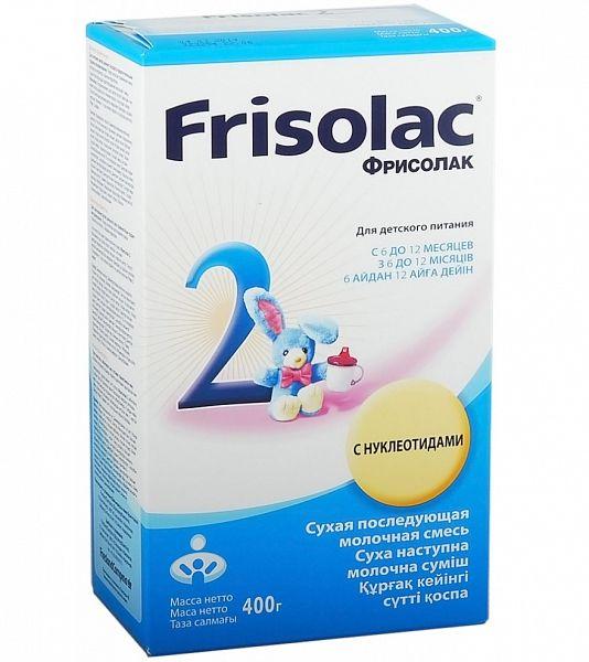 Молочная смесь Фрисолак 2 400г Friso. Качественную и недорогую продукцию вы сможете купить в Интернет магазине Карапузики с бесплатной доставкой по Тюмени.