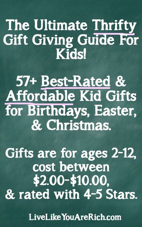 This is a 'Must-Pin' for almost 60 ideas for kids gifts that are unique, affordable, reliable, and fun. #LiveLikeYouAreRich