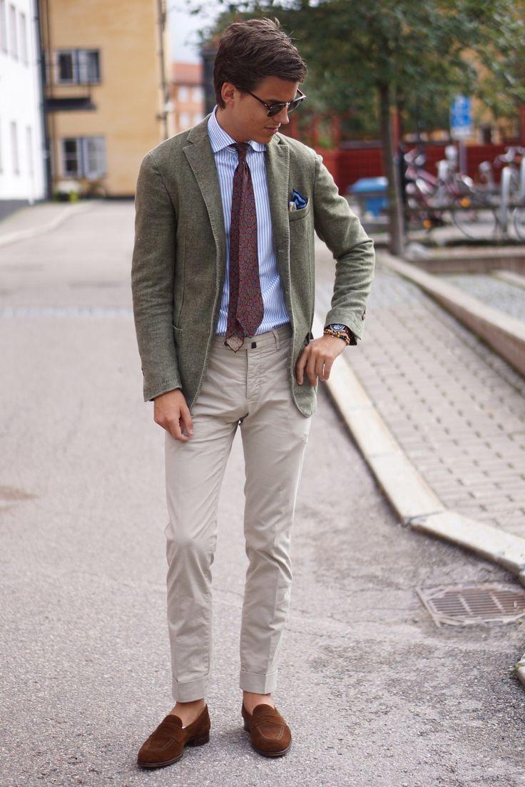 green LBM blazer menswear lookbook sartorial
