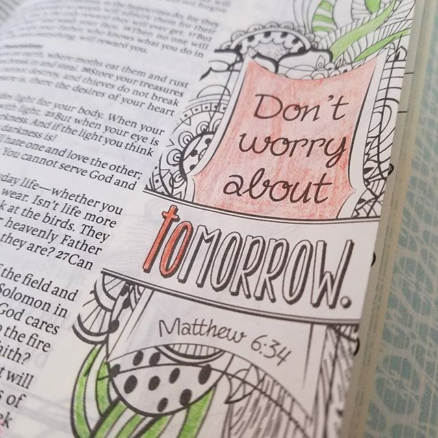 Matthew 6:34. Bible journaling just might be our favorite part of homeschooling this year…