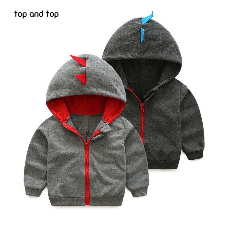 awesome baby boys dinosaur hoodies children hoodies boys spring autumn coat kids long sleeve casual outwear