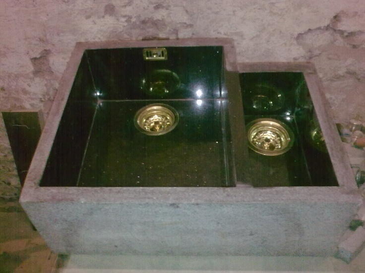 Natural Stone Under Mount Kitchen Sink In Star Galaxy Granite Full Bowl And 1