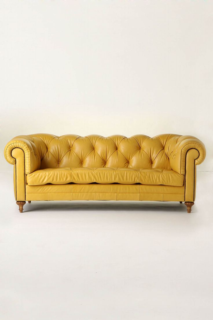 Yellow is SO fun and happy! .. and plus I  have always loved leather couches! My good friend Clarissa had a cute orange couch in her room for a while. (I've always been a little jealous of it) haha!