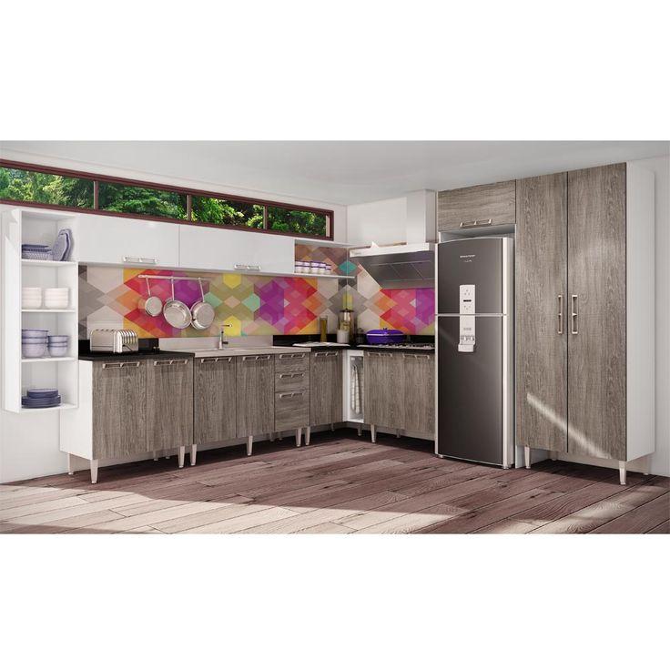 Gostou desta Conjunto Cozinha 03 Rústico/Branco P3 - Art In Móveis, confira em: https://www.panoramamoveis.com.br/conjunto-cozinha-03-rustico-branco-p3-art-in-moveis-6605.html