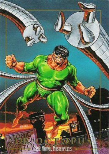 Doctor Octopus - Primera apariciónThe Amazing Spider-Man #3 (julio de 1963) Marvel Comics . Nombre originalOtto Octavius AliasDoc Ock y Master Piece EspecialidadMente genial, brillante científico. Brazos metálicos articulados capaces de levantar varias toneladas, escalar muros, y manipular objetos Afiliaciones anterioresLos Seis Siniestros, Los Amos del Mal