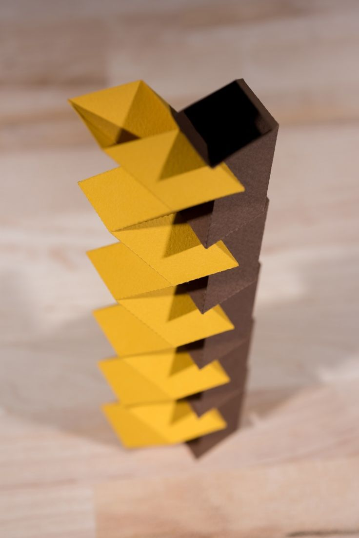Zippered tube origami configuration