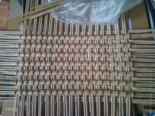 Поделка изделие Плетение Сложное плетеное донышко по МК Тищенко Бумага газетная Трубочки бумажные фото 1