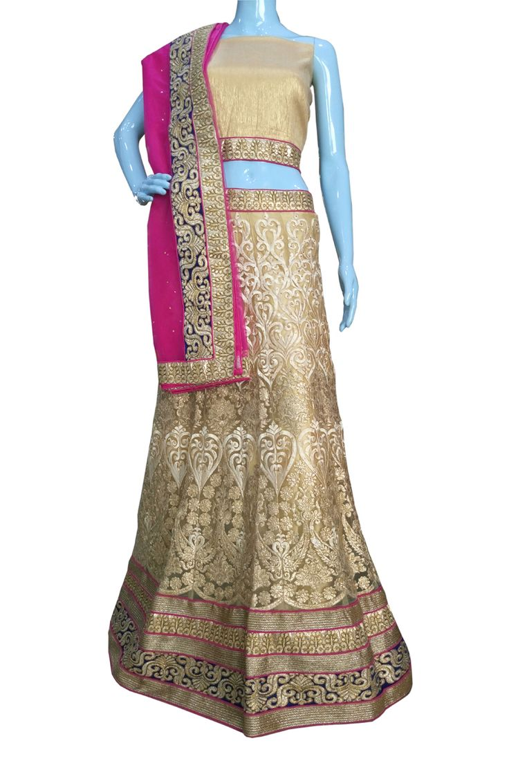 ‪#‎BuyNow‬ Beige Heavy Zari Thread Work Wedding Semi-Stitch Lehenga Choli With Blouse only at Lalgulal.com. ‪#‎Price‬ :- 6291/- inr. To ‪#‎Order‬ :- http://goo.gl/v4Y4Yy To Order you Call or ‪#‎Whatsapp‬ us on +91-95121-50402 COD & Free Shipping Available only in India.