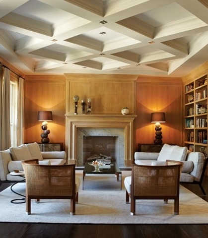 Diagonal coffered ceiling