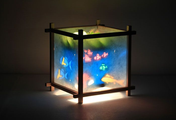 Fish children 39 s spinning lamp cuteness likes for the for Fish tank night light